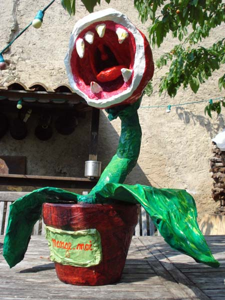 maries paper mache monster plant
