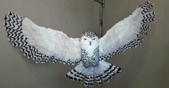 Nancy Arsenault's paper mache owl