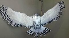 Nancy Arsenault's paper mache owl