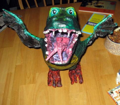 nicoles paper mache dragon2
