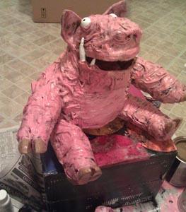 nicoles paper mache pig