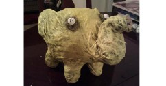 nicole's paper mache Zombie pig- slider