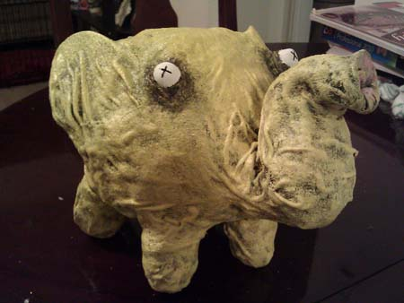 nicoles paper mache zombie pig
