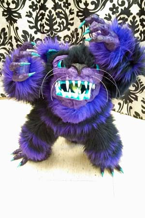 Nikki's paper mache furry monster