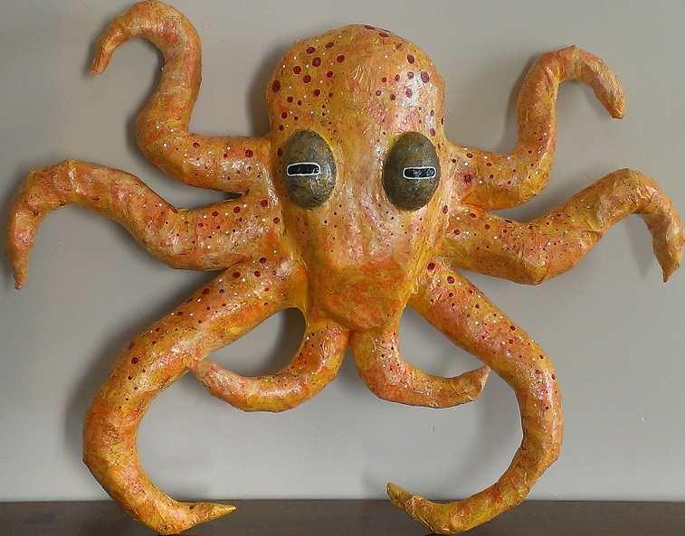 Pamela Siter's paper mache octopus