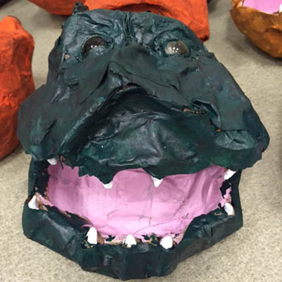 paper mache screamer head3