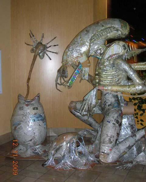 Peter Thomas's paper mache alien