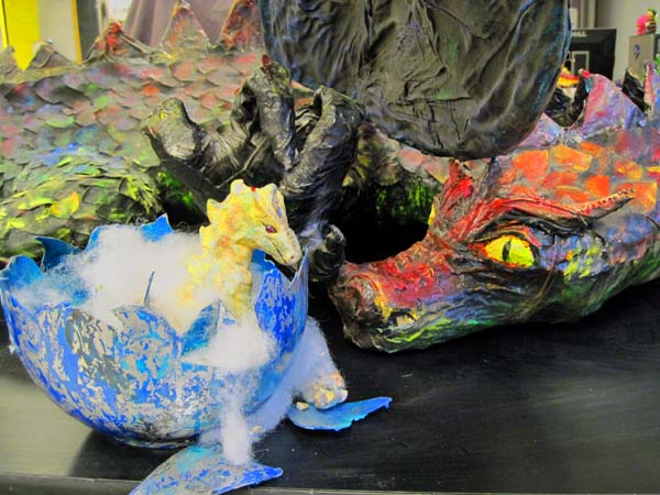 Phyls paper mache lucy