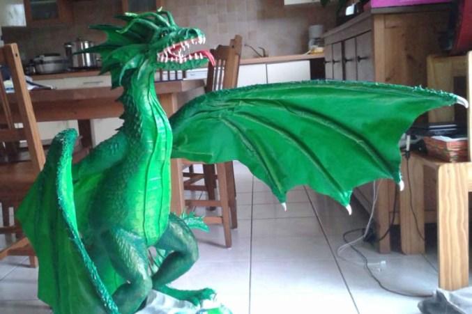 Tetyana's paper mache dragon