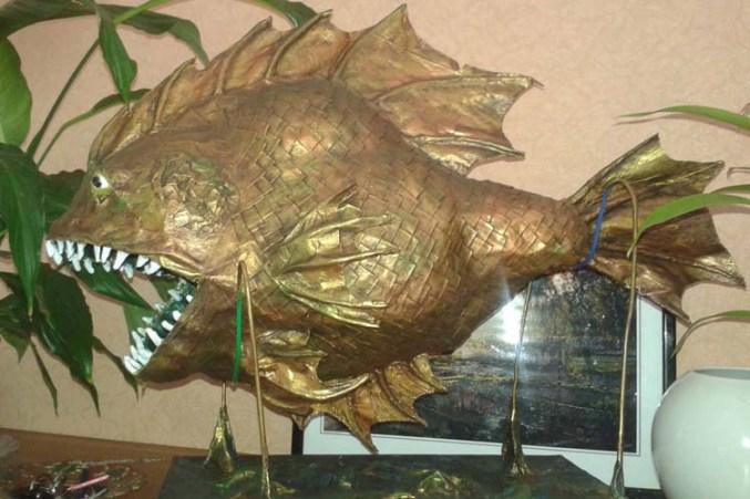 Tetyana's paper mache fish