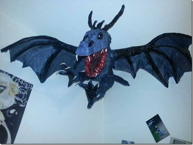 Thomas' paper mache dragon2
