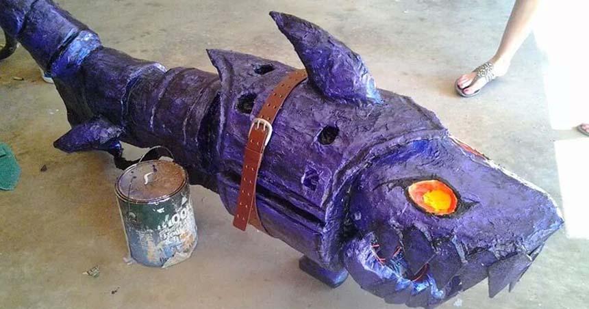 wade's paper mache fish- slider