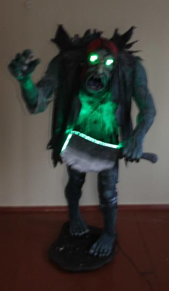 xenia's paper mache zombie
