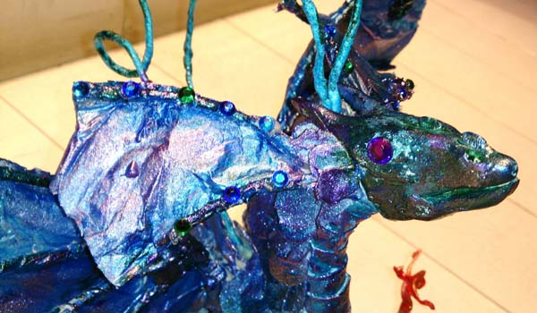 Albertos paper mache dragon 1