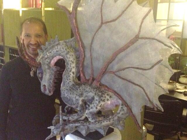 Albertos paper mache dragon