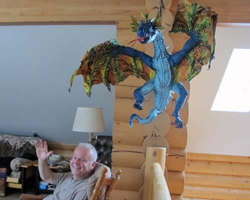 Beths paper mache dragon2
