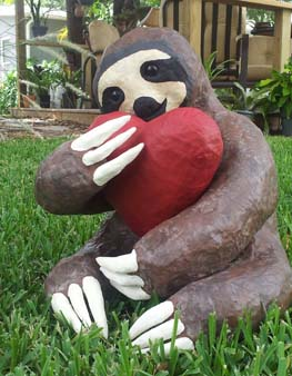 Brandons paper mache sloth