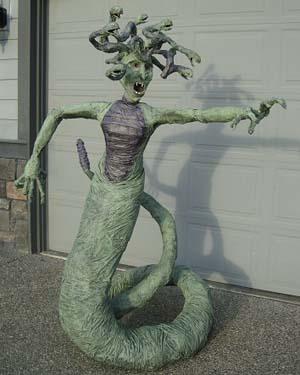 Mikes paper mache Medusa