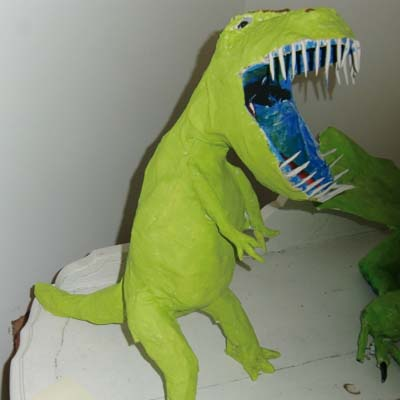 richards paper mache dinosaur