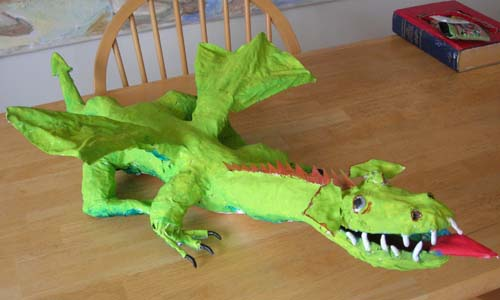 richards paper mache dragon