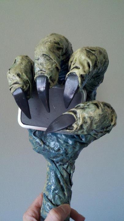Shea's paper mache tap handle