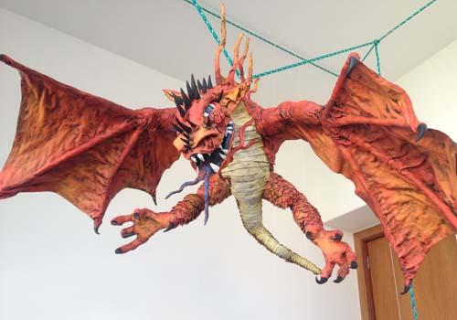 anas paper mache dragon