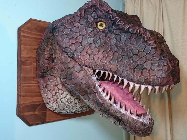 Ben's paper mache T-rex