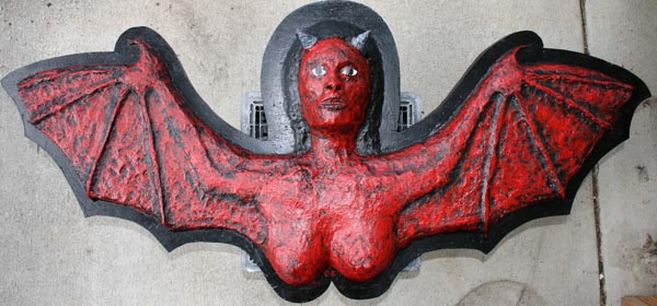 Doug Ferrin's paper mache bat-devil girl