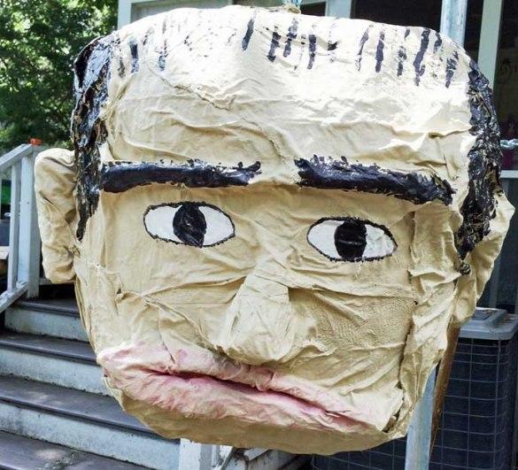 Elise Reed's paper mache Scalia pinata