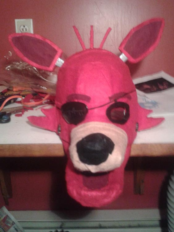 Etienne's paper mache mask