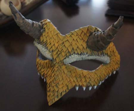 fernandos paper mache dragon mask
