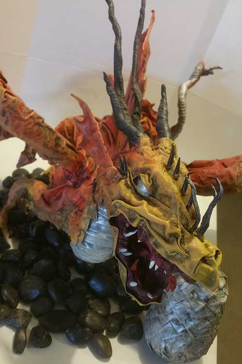 Heath Lambert's paper mache dragon