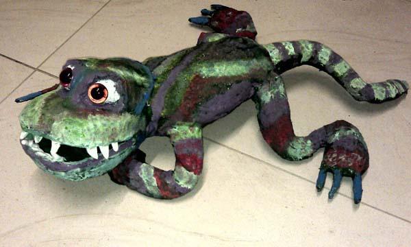 isabelle's paper mache lizard