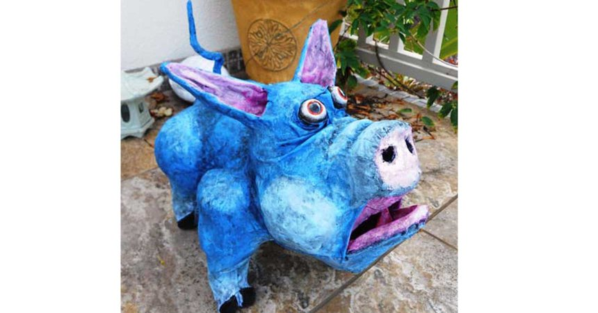 james osterberg paper mache hambone- slider