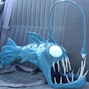 joshs paper mache angler fish with leds
