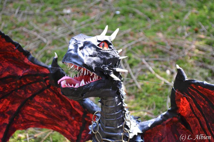 Lisa Albien's paper mache dragon