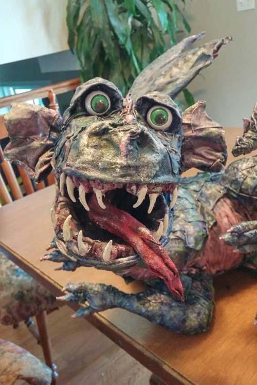 rebecca Nichol's paper mache dragon