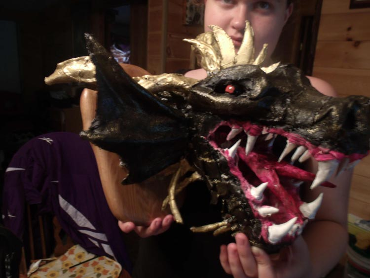 Richelle Gardner's paper mache dragon