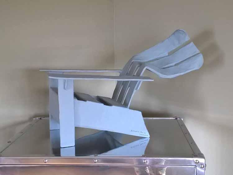 Sheri Tamaddon's paper mache chair