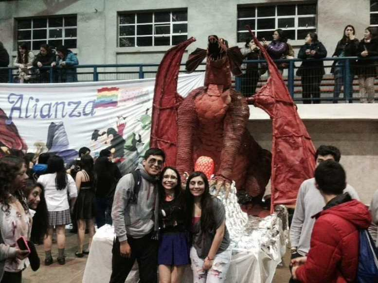 ailyn's paper mache dragon