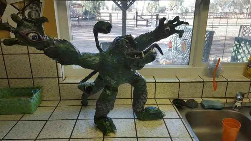 Bryan's paper mache monster