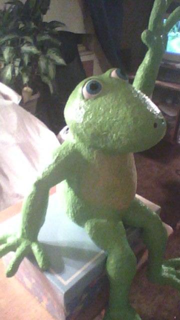 Don Hagemeyer's paper mache frog