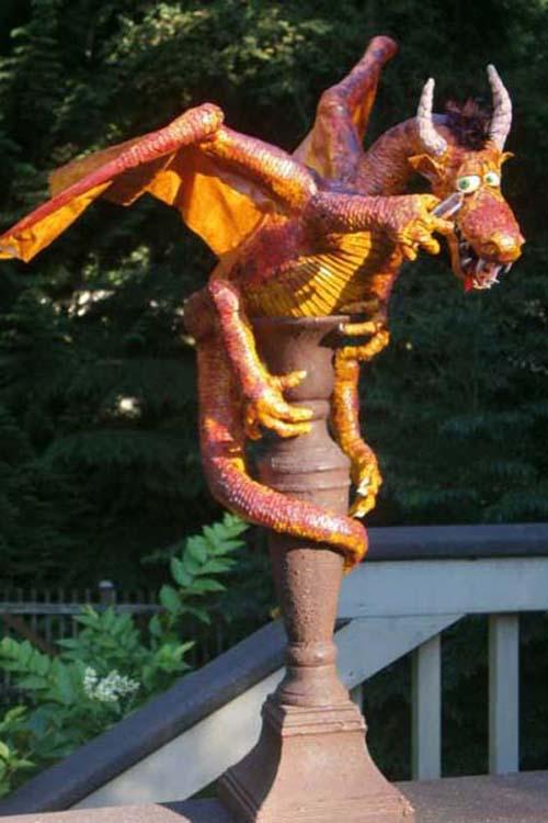 janet's paper mache dragon