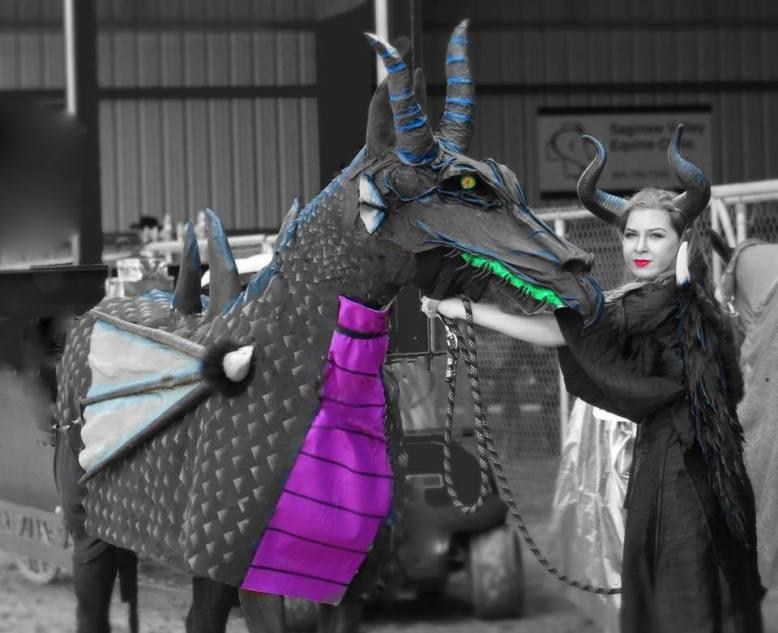 Rebecca Brissette's paper mache horse costume-2nd place in comp