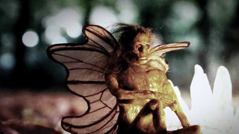 Robert Bunker's paper mache 'expired ouphe' mummified Fairy