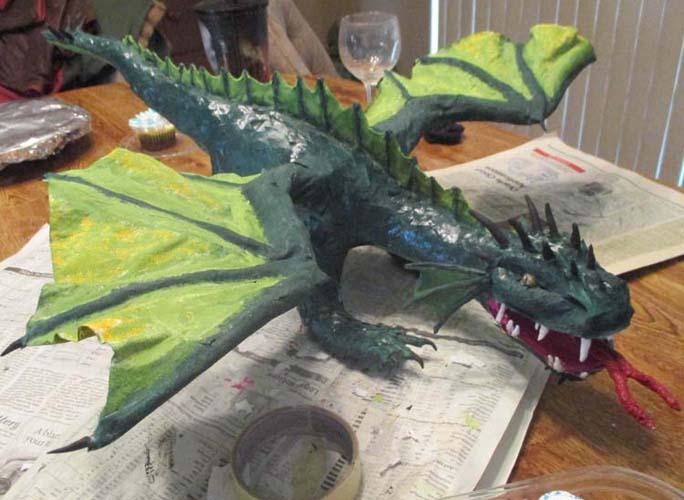Seth's paper mache dragon
