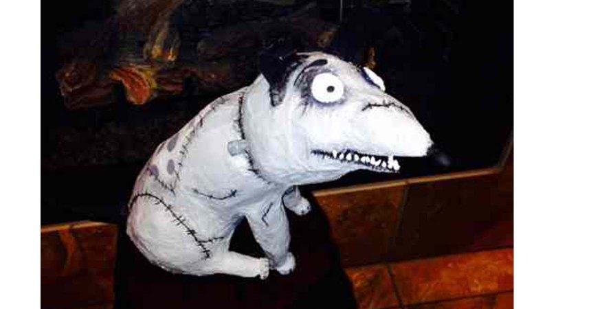 Amanda Gathright's paper mache Frankenweenie- slider
