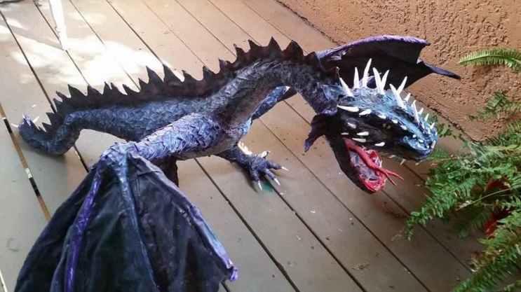 Frank Carrillo's paper mache dragon