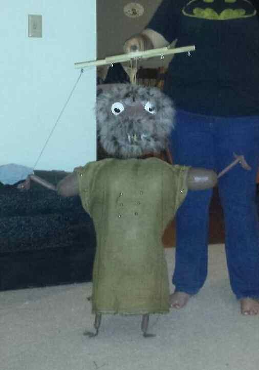 Gregga Johnn's paper mache puppet Trollee