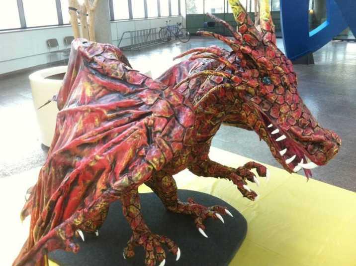 Jason's paper mache dragon